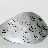 « Bateau ivre », 2003, acier inoxydable, collection du Musée du N.-B.