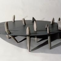 « Belvédère », 1998, ardoise et galets, collection de l'artiste