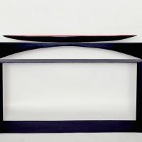 « Canoë », 2001, ardoise, acier et gouache, collection privée, Caraquet, N.-B.
